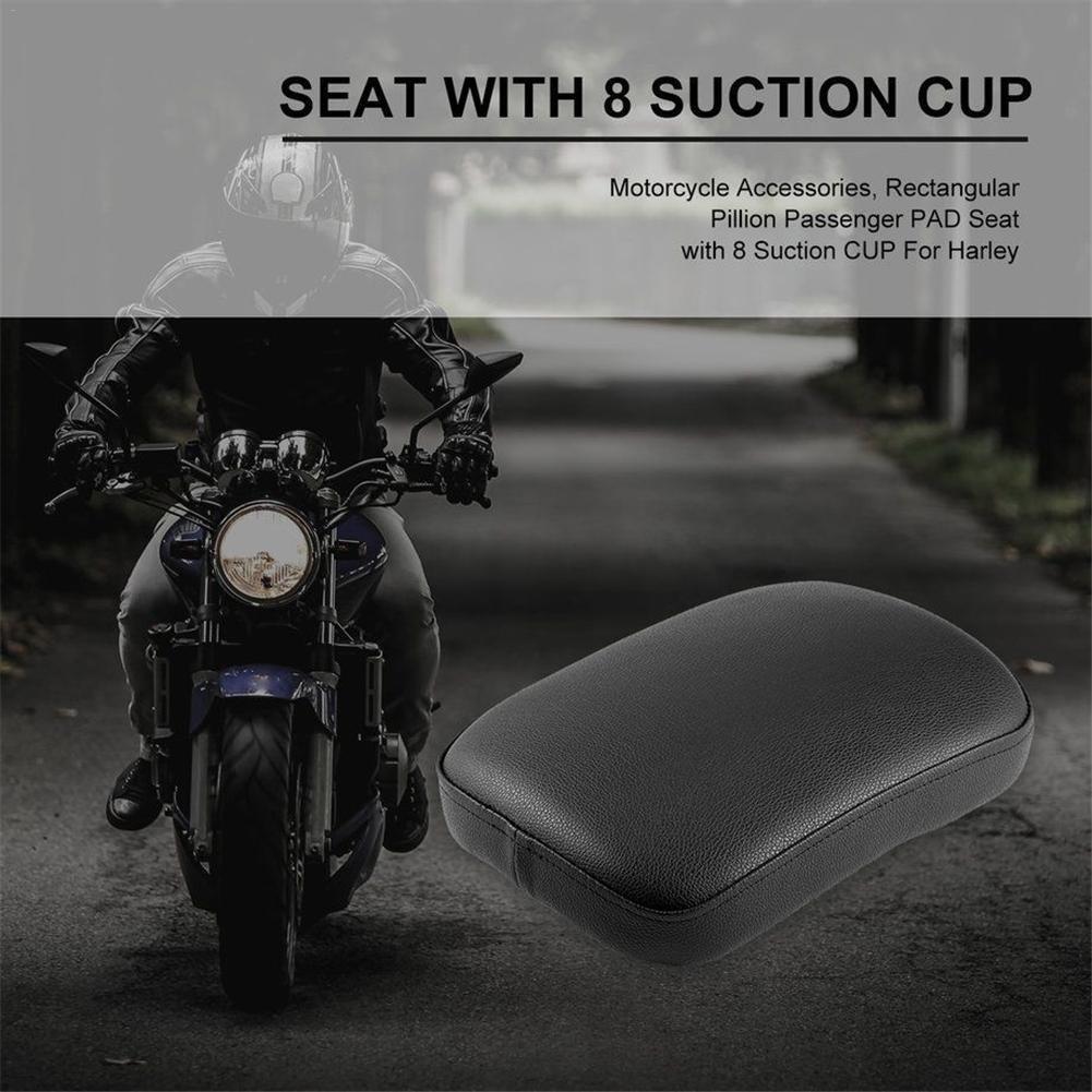 Motorrad Sozius Situpad Saugpad Sitzkissen mit 6 Saugn/äpfer F/ür Harley Touring Softail Dyna Sportster XL 883 1200 48