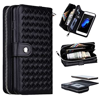 58c5ed5e73 Zoeking iphone7 plus ケース iphone8 plus ケース 手帳型 おしゃれ 分離式 財布型 高品質