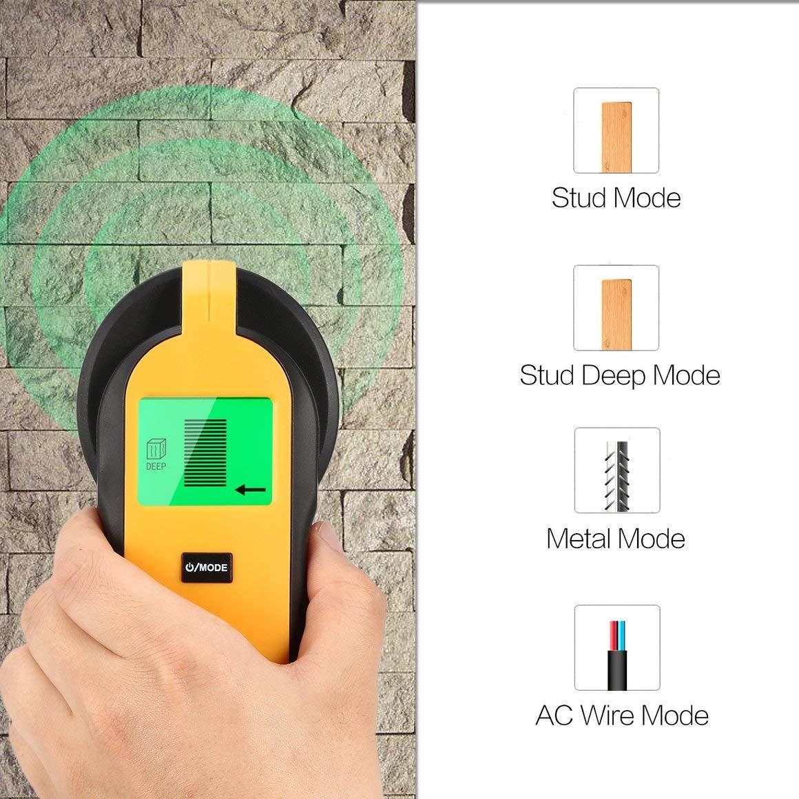 Funnyrunstore TH250 Digital Mini 3 en 1 Detector de Cable en Vivo CA de Metal de Madera Probador de Mano Tornillo de Tesoro de Pared Stud de Pared Buscador ...