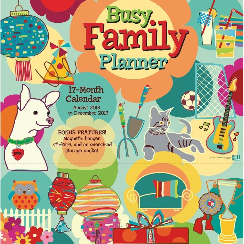 Busy Family 2019 18-Month Wall Calendar Planner, 12 x 12, (CP-0486)