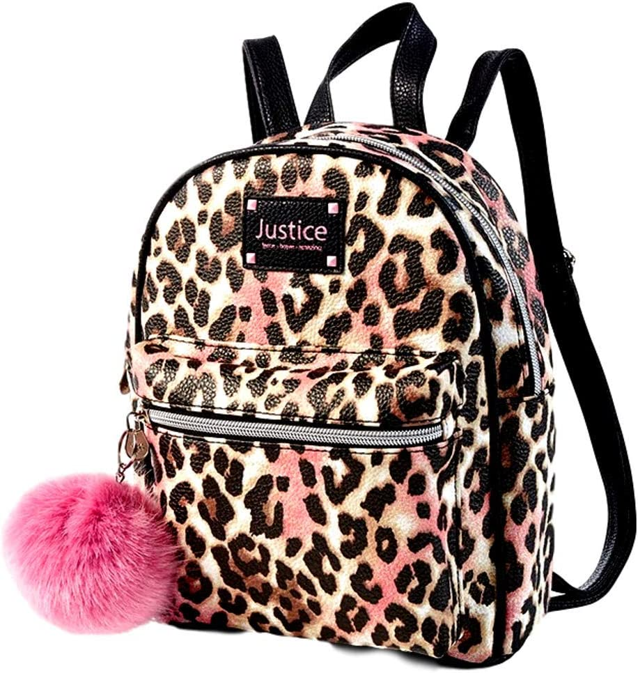 Leather Backpacks For Women Animal Skin Printed Small Travel Waterproof Daypack Purse Bag