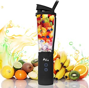 Polar Blend 24 oz. Cordless and USB Rechargeable Blender with Leak-proof Lid ideal for Shakes and Smoothies – Portable for Travel, Office, and Gym Use