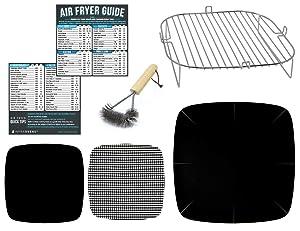 Air Fryer Stainless Steel Rack Accessory Compatible With Aaobosi 21 QT, Caynel 12.5 quarts, Costway 19 QT, Paula Deen 9.5 QT, Zokop 16.91 QT, Costway, Dash Chef + More | Airfryer Accessories Set