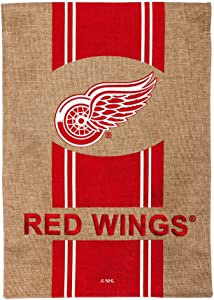 Team Sports America Burlap Detroit Red Wings Garden Flag, 12.5 x 18 inches