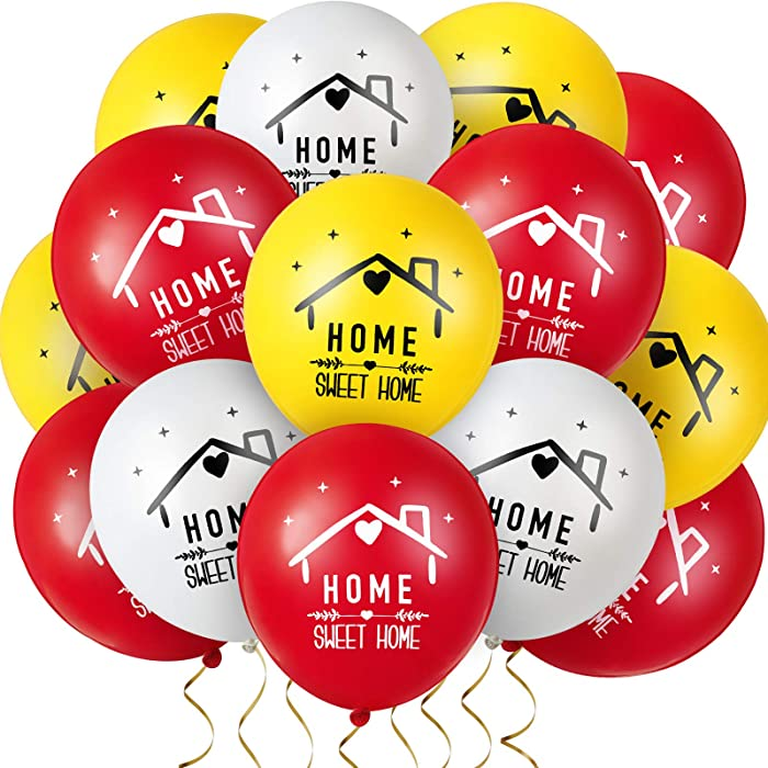 60 Pieces Home Sweet Home Balloon Housewarming Party Latex Balloon Welcome Home Balloon for Family Gathering Housewarming Party Decoration Supply