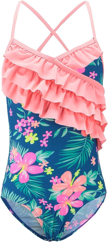 Amazon.com: Trajes de baño de una pieza para niñas con ...