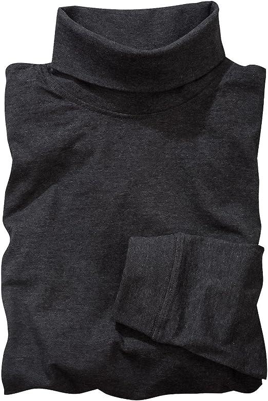 Redfield Camisa de Cuello de Tortuga Manga Larga Antracita Mélange Oversize