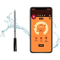 AURONENSI Wireless Meat Thermometer with Smart Bluetooth and Digital Connectivity for BBQ, Oven, Smoker, Stove Top…