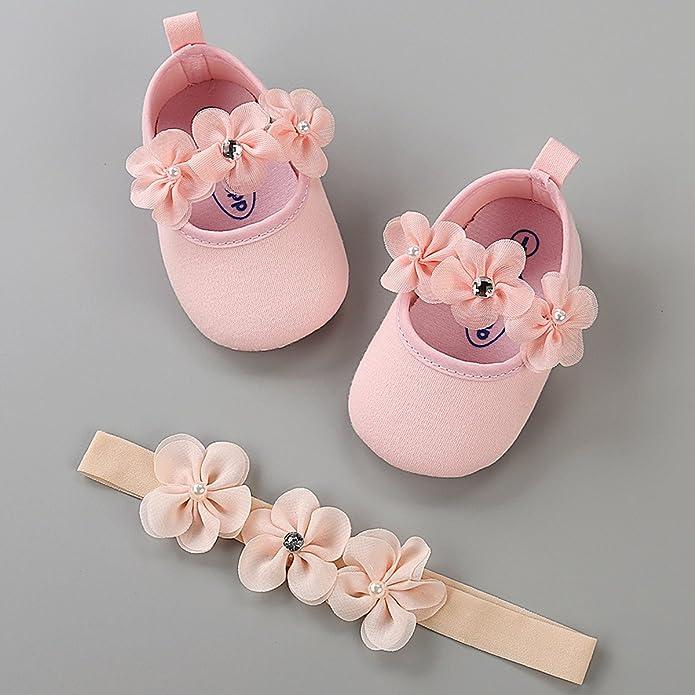 366056be237f1 LIVEBOX Baby Girls Shoes Soft Sole Prewalker Mary Jane Princess ...