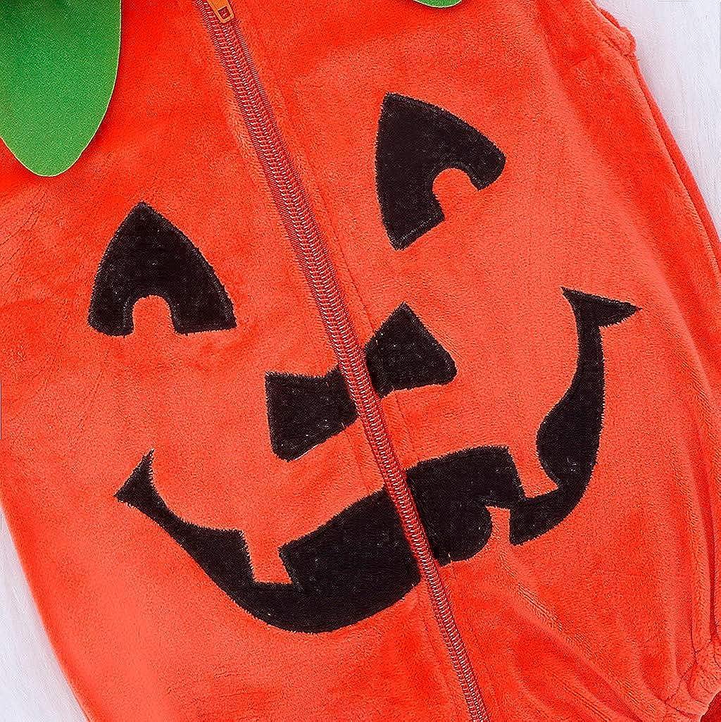BYSTE/_Abito 2019 Nuovo Vestiti di Un Pezzo della Chiusura Lampo con Cappuccio della Zucca del Diavolo di Halloween della Manica Lunga Vestiti Bambina con Gonna in Tulle Piccolo Vestito