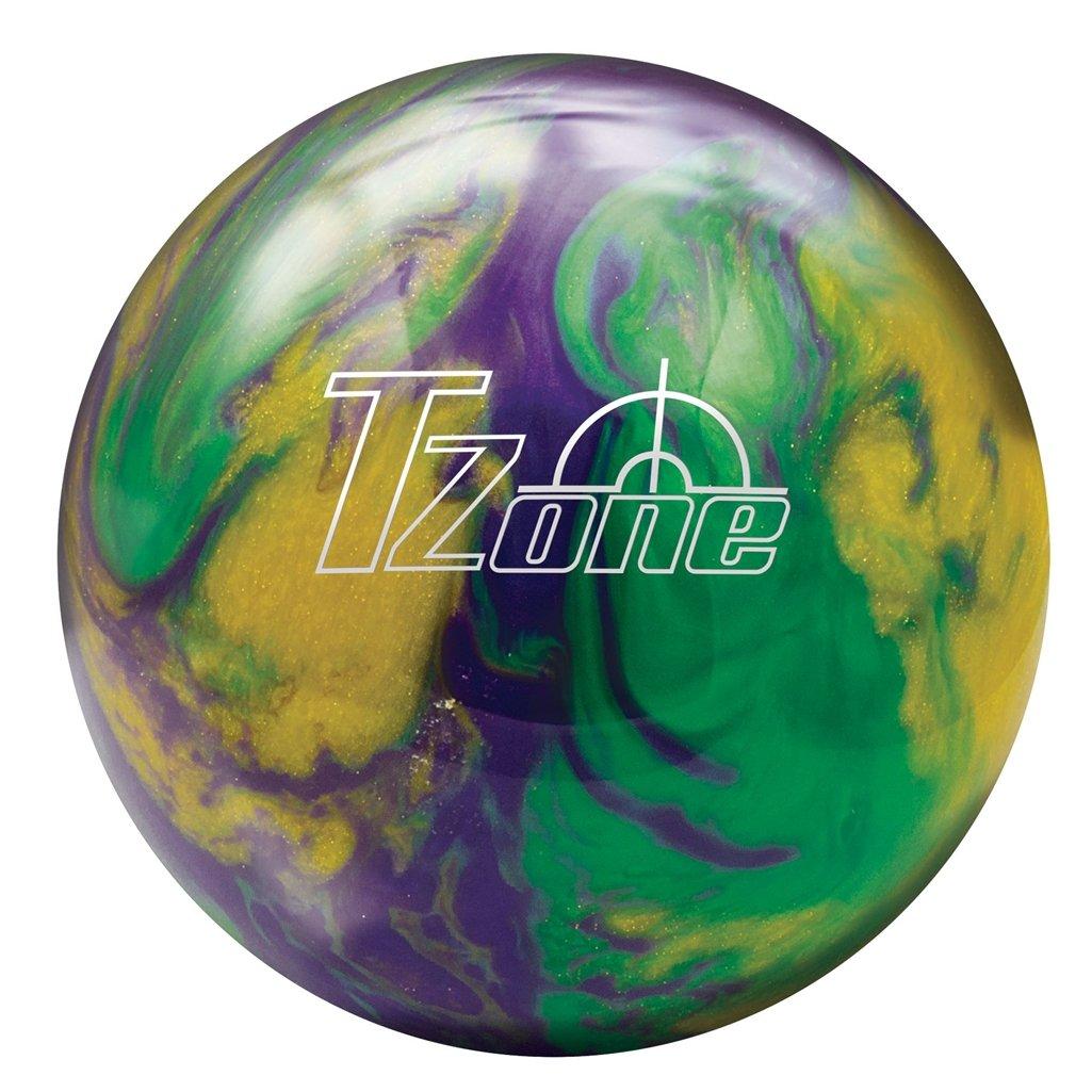 Brunswick Mardi Gras T-Zone Glow Bowling Ball, Green/Purple/Gold, 15 lb