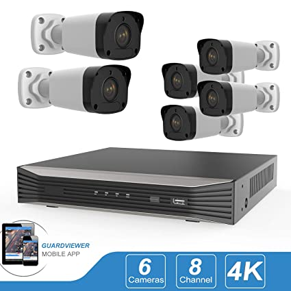 Amazon com: 5MP 8CH PoE Security Camera System, 8Channel 8MP 4K H
