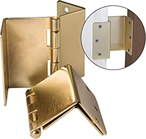 Expandable Door Hinges Allow Up to 2 Extra Inches For Wheelchair, Walker or Rollator Accessibility, Brass