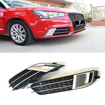 jcsportline cromado luz de niebla delantera cubierta parrilla ajuste para Audi A1 2011 - 2014 1 par: Amazon.es: Coche y moto