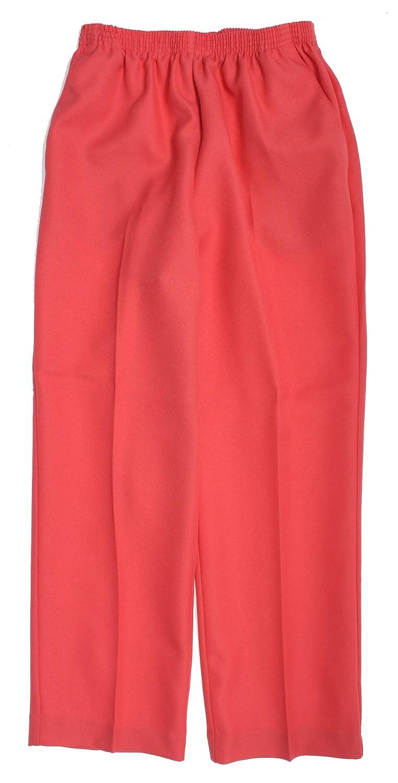 Alfred Dunner Classics Elastic Waist Pants Coral 16 M