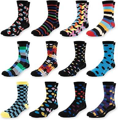 Chanwazibibiliu Purple-Eyed Cat Mens Colorful Dress Socks Funky Men Multicolored Pattern Fashionable Fun Crew Cotton Socks