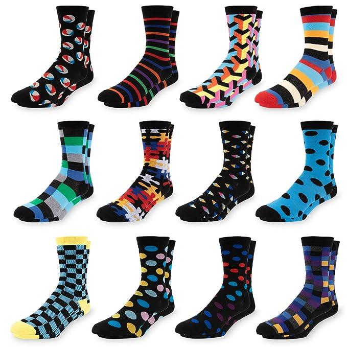Amazon.com: Calcetines de vestir coloridos para hombre ...