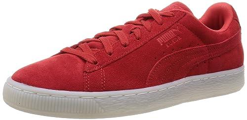 28ee0425201 Puma Classic Col - Zapatillas de Deporte de Piel para Mujer Rojo Rouge  (High Risk Red Black) 38  Amazon.es  Zapatos y complementos