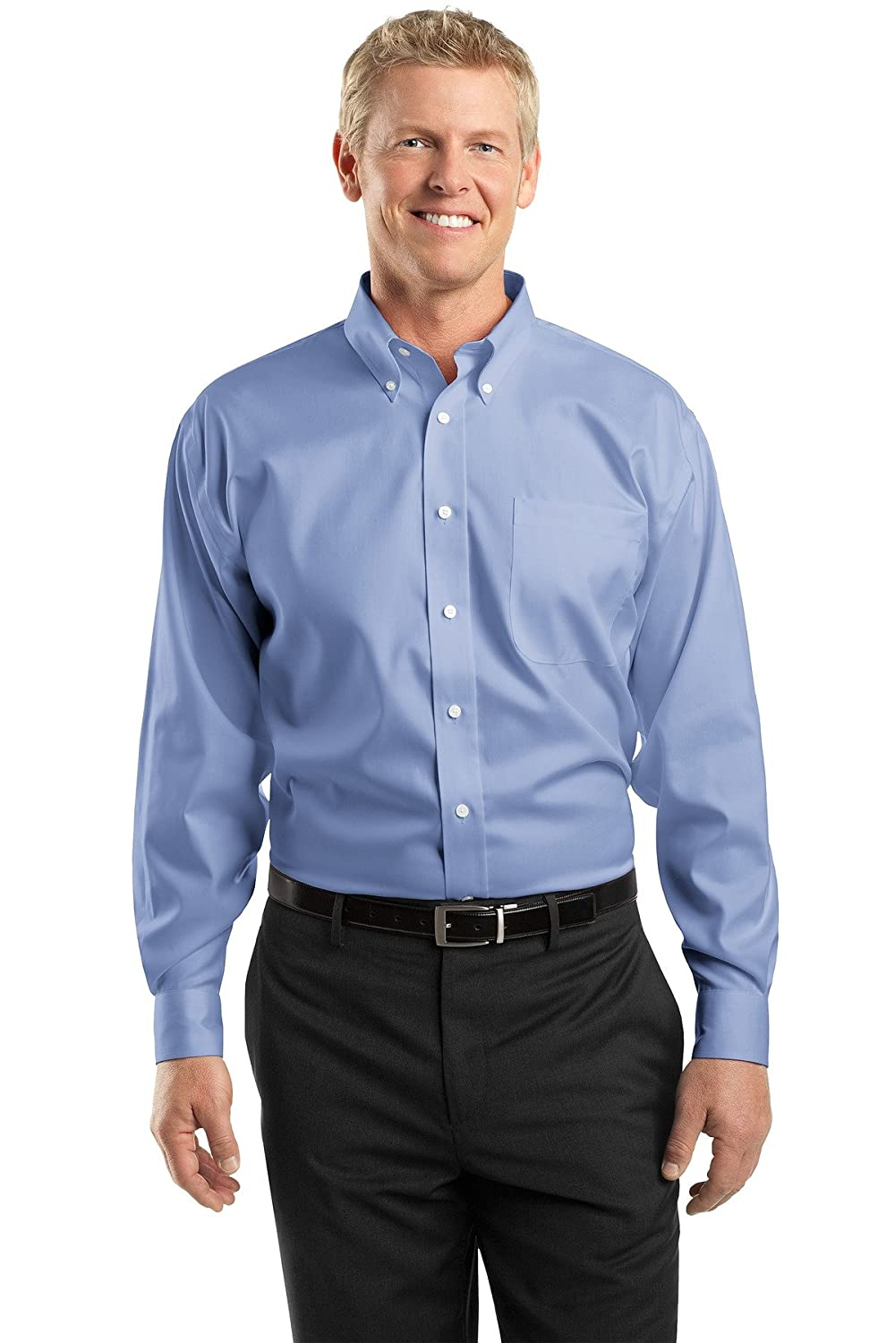 b8ac51e84c3 TLRH24 This shirt blends the impeccable appearance of 100% non-iron cotton  with the polish of pinpoint oxford. Two-ply 80-doubles yarn for strength ...