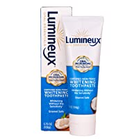 Lumineux Oral Essentials Teeth Whitening Toothpaste | Certified Non Toxic | Sensitivity Free | Fluoride Free | Whiter Teeth in 7 Days | NO Artificial Flavors, Colors, SLS Free, Dentist Formulated