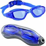 Swim Goggles, EveShine Unisex Clear Swimming Goggles - No Leaking, UV Protection, Anti-Fog Sport Racing Goggles for Adult Junior Youth Kids - Blue