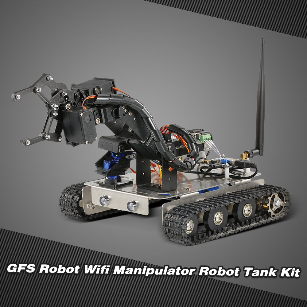 Goolsky GFS Robot Wifi Smart DIY Crawler RC Robot Tank with Manipulator 480P Camera PC Mobile Phone Control Education Tool by Goolsky (Image #7)