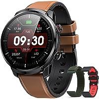 Smartwatch Heren, Hommie Smartwatch Volledig Touchscreen Waterdicht IP68, Slimme activiteitsarmband met 9 Sporten…
