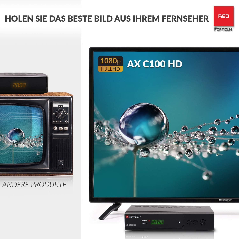 Opticum AX C100 HD DVB-C Receptor Digital por Cable (HDTV, DVB-C, HDMI, SCART, USB) Negro