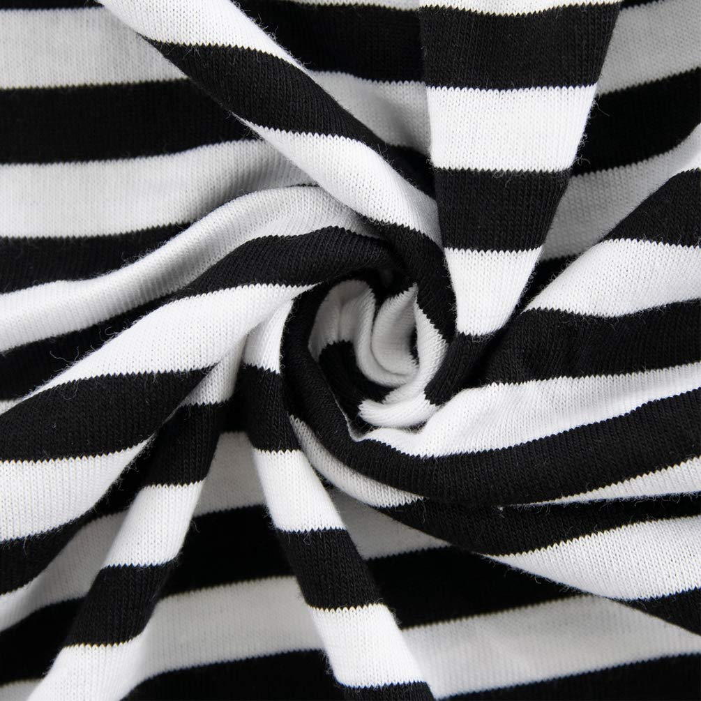 ENJOYNIGHT Women\'s Sleepwear Cotton Sleep Tee Short Sleeves Print Sleepshirt (Large, Line)