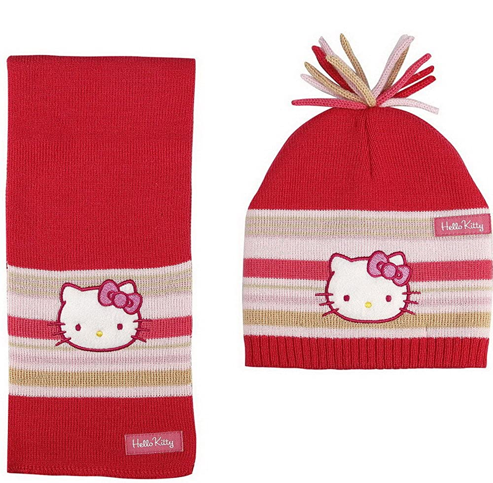 Winterset Hello Kitty Mü tze, Schal HK3263 cartoons4you