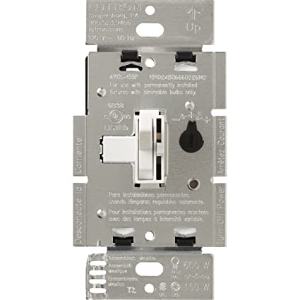 lutron toggler c l dimmer switch for dimmable led, halogen andlutron toggler c l dimmer switch for dimmable led, halogen and incandescent bulbs, single