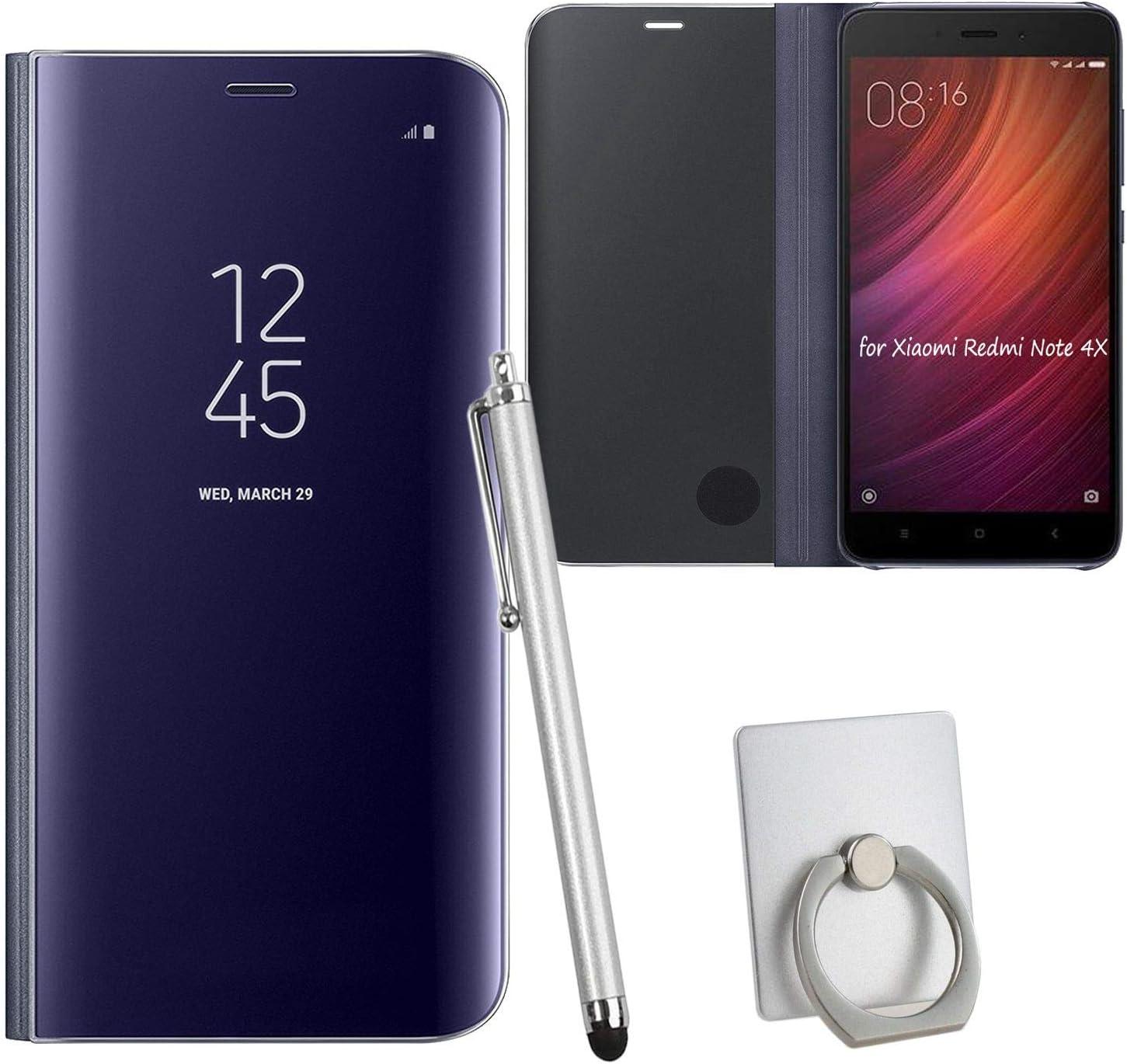 Guran® Mirror Efecto Espejo Funda para Xiaomi Redmi Note 4X Clear ...