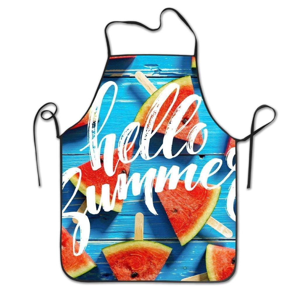 耐久性洗濯可能調節可能なホームキッチンエプロンHello Summer淵エプロン母ギフト料理Bakingレストランユニセックス   B07DHDRFYN