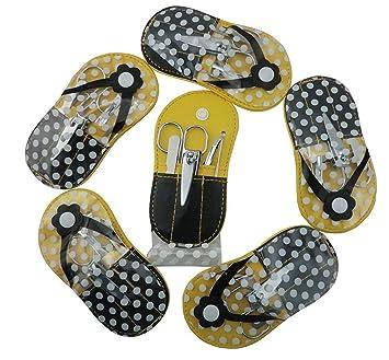 f5c8a27628a5aa Amazon.com   Spove Shoe Polka Dot Flip Flop Design Manicure Kit Shape  Personal Care Manicure Set pack of 6 Yellow   Beauty
