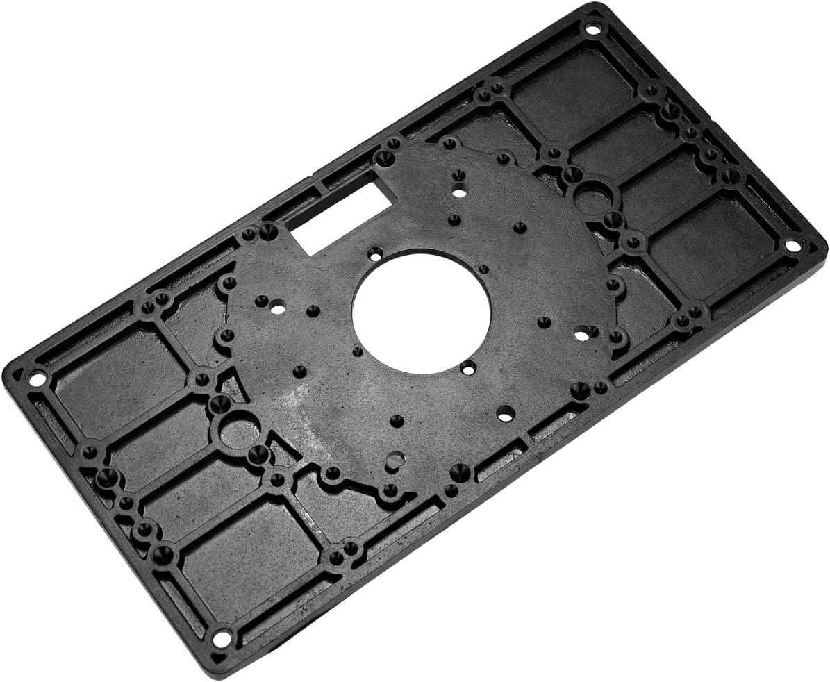 Enrutador multifuncional Mesa de inserci/ón Bancos de carpinter/ía de aluminio Enrutador de madera de aluminio Trimmer Modelos M/áquina de grabado con 4 anillos Herramientas