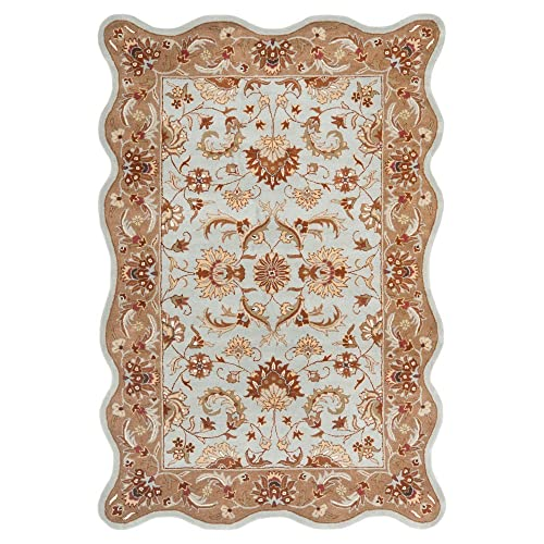 Safavieh Heritage Blue Beige Medium Rectangle Rug