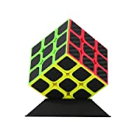 Cubo di Rubik, Cubo Magico 3x3 Adesivo in Fibra di Carbonio per Maggiore Rapidità e Precisione Puzzle Game e Regalo di Festa VOOKI