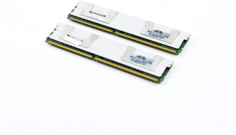 HP 16GB [2X 8GB] PC2-5300 DDR2-667 2Rx4 ECC Fully Buffered FBDIMM Memory Kit (HP PN# 413015-B21) (Renewed)