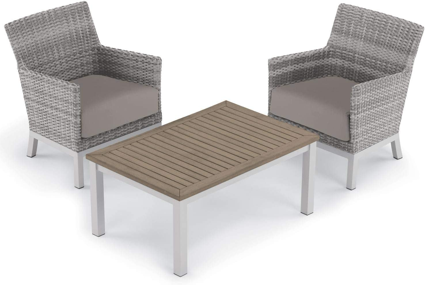 Oxford Garden 5572 Argento & Travira Furniture Set, Powder Coat Flint