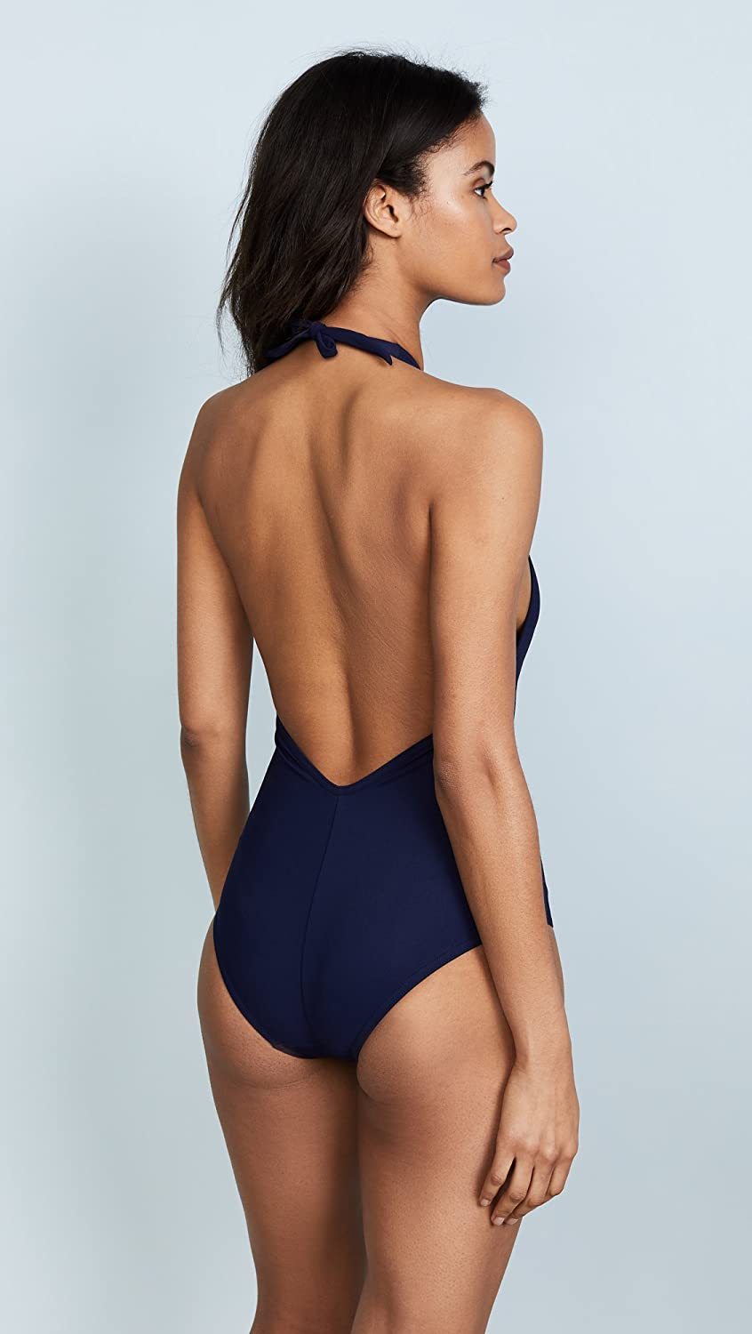 Karla Colletto Womens Low Back Plunge Swimsuit