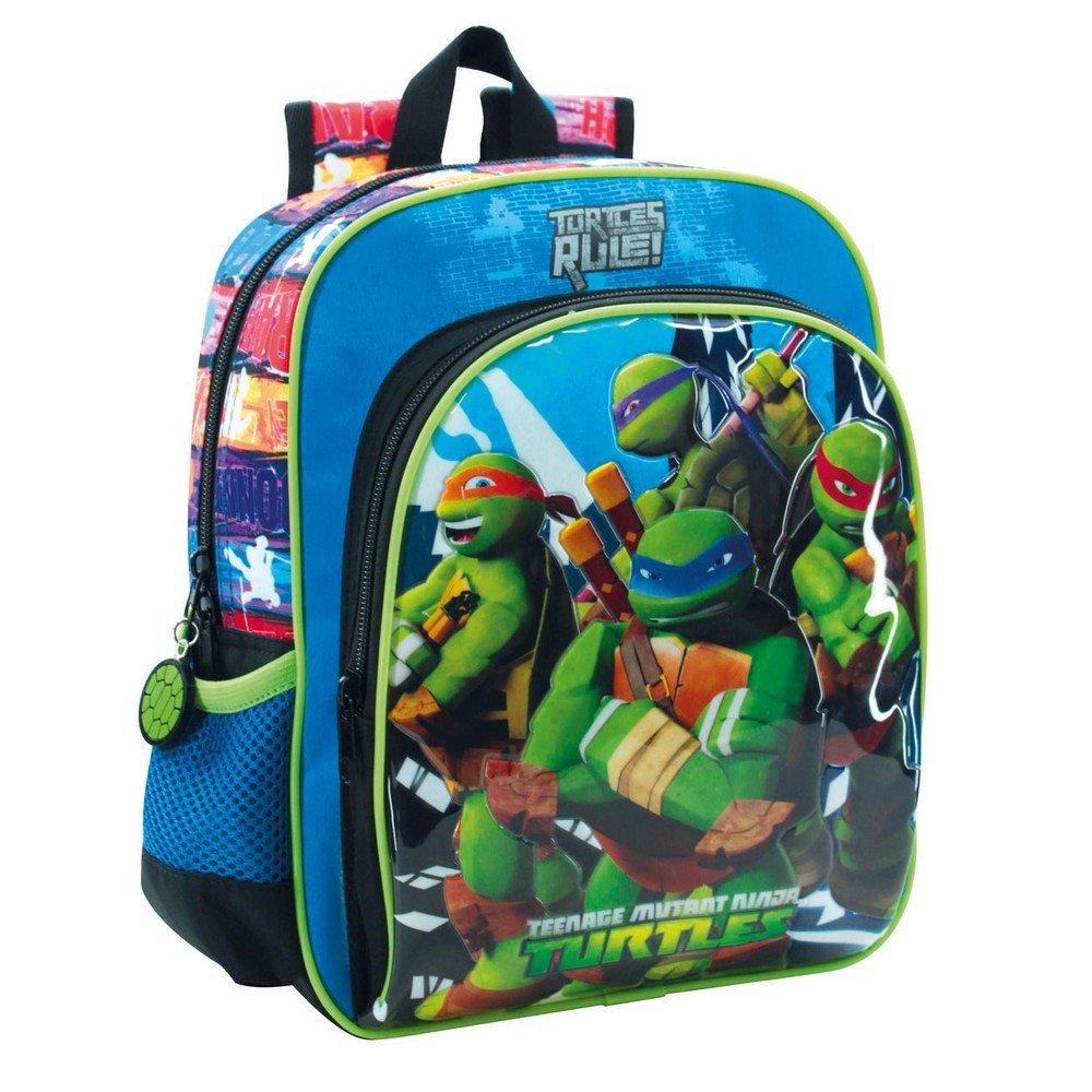 Tortugas Ninja 2562151 Turtles Building Mochila Infantil, 6.44 litros, Color Azul