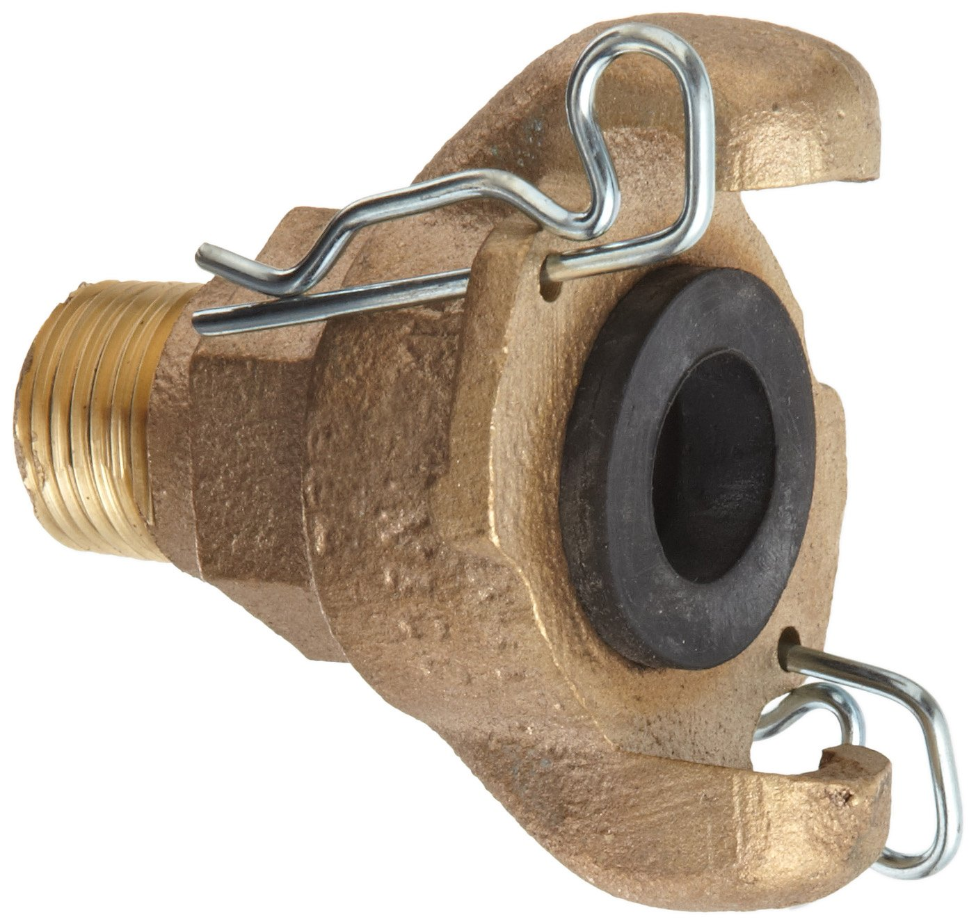 Dixon Air King AB2 Brass Air Hose Fitting, 2 Lug Universal Coupling, 1/2'' NPT Male