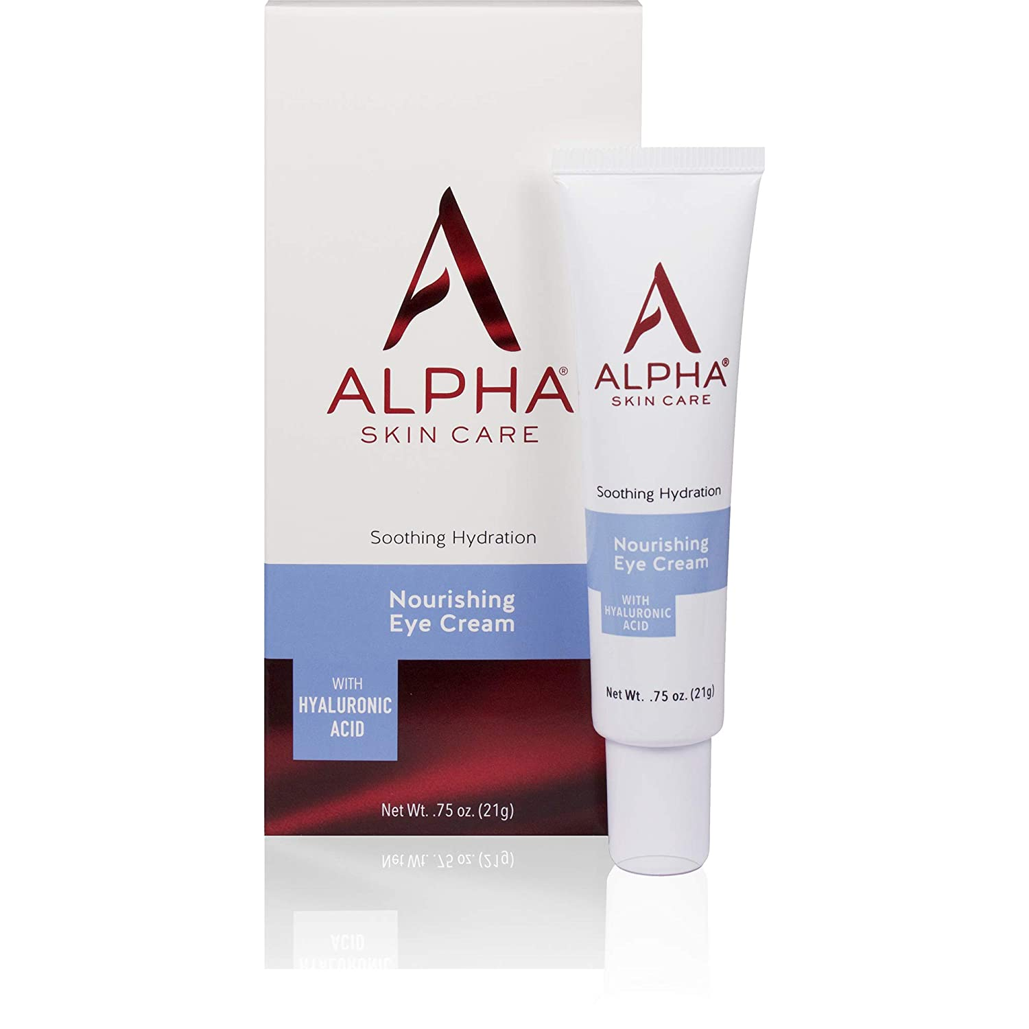 Alpha Skin Care Nourishing Eye Cream with Hyaluronic Acid | Anti-Aging Formula | Soothing Hydration | Reduces the Appearance of Lines & Wrinkles | For All Skin Types | 0.75 Oz