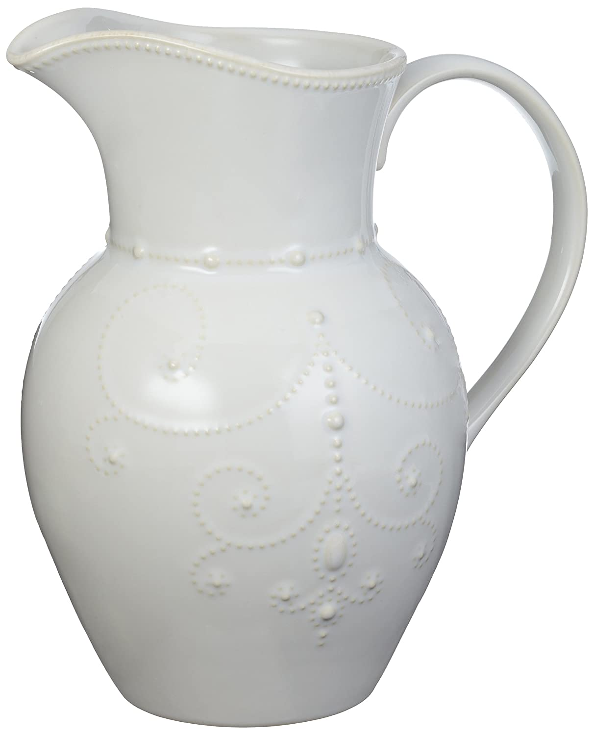 Christmas Tablescape Décor - Lenox Large White French Perle Pitcher