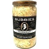 Bubbies Sauerkraut | No Sugar, Vinegar, or Preservatives! | 25 Oz | Pack of 1