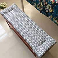 YLLN Outdoor Metal Wooden Bench Seat Cushion,Non-Slip Thick Soft Garden Patio Bench Pad, Deck Chair Mat Suitable for…