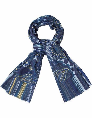 Oilily - Bufanda - No aplicable - para mujer Azul TAMARILLO STRIPE TWILIGHT BLUE Talla única
