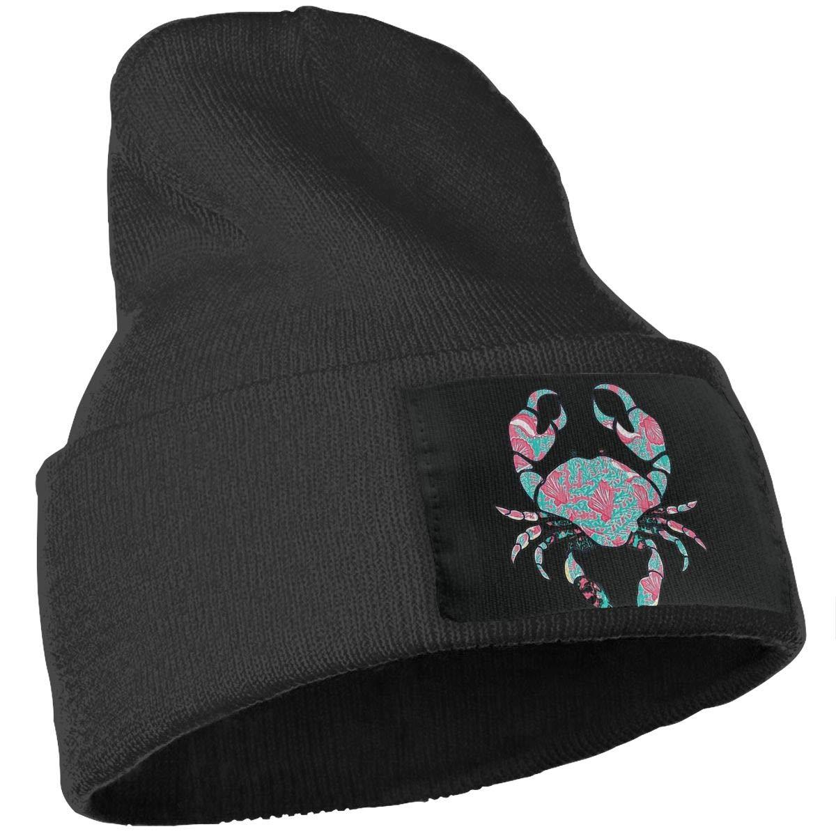 SLADDD1 Crab Warm Winter Hat Knit Beanie Skull Cap Cuff Beanie Hat Winter Hats for Men /& Women
