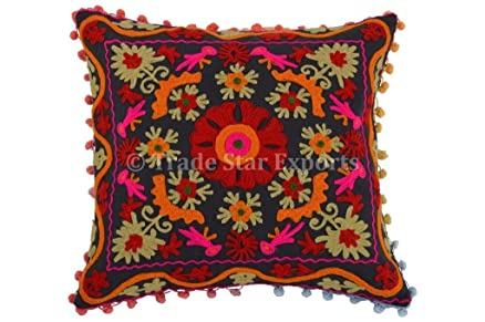 Buy Suzani Pillow Cover Indian Boho Throw Cushion Cover Embroidery