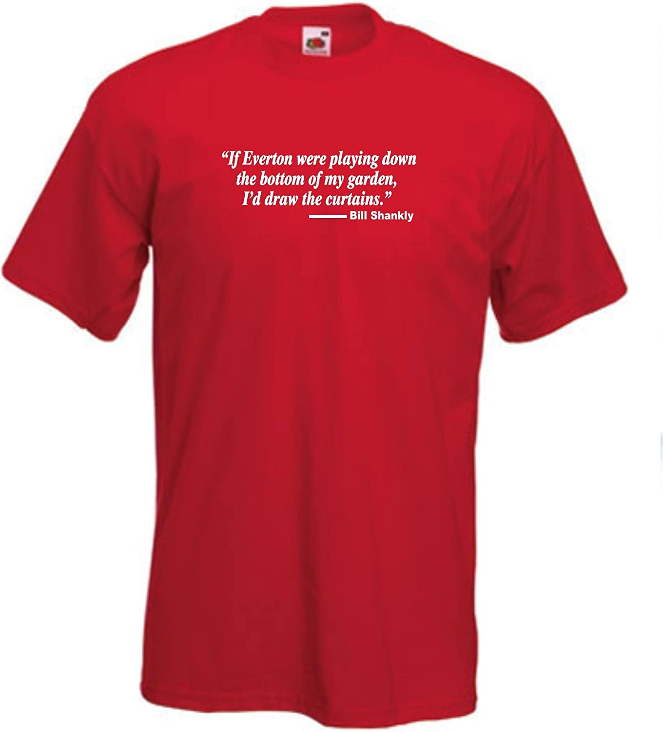 Invicta Screen Printers Liverpool FC Bill Shankly Curtains Quote Football Club T-Shirt Small to 5XL